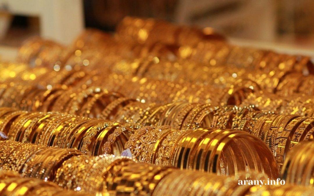 1 gramm arany ára