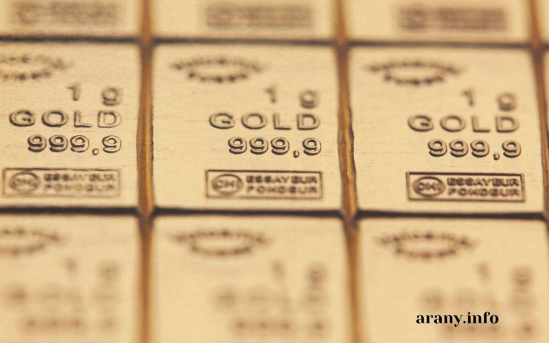 Arany gramm ár mitől függ?